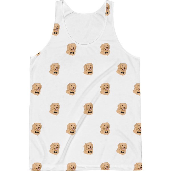 Golden Retriever All-Over Tank For Men | Funny Dog Top | The Jazzy Panda
