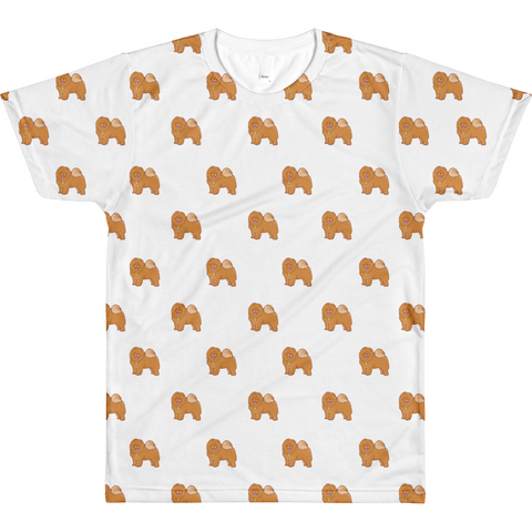 Chow Chow All-Over T Shirt For Men | Funny Dog Lover Tee | The