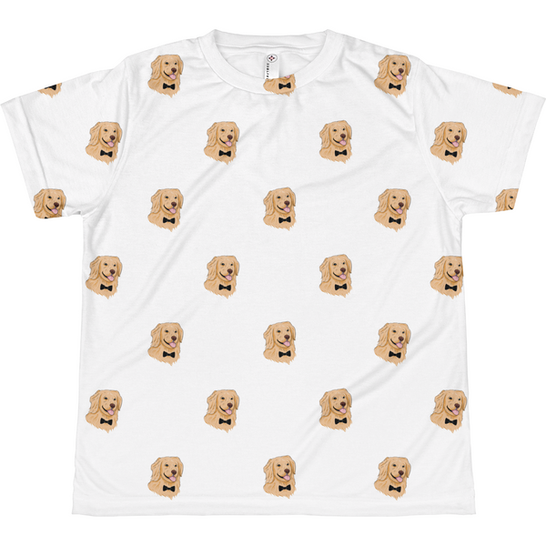 Golden Retriever All-Over T Shirt For Girls | Funny Dog Tee | The Jazzy Panda