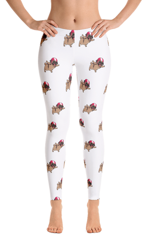 Pug Leggings For Women | Funny Skydiving Dog Tights | The Jazzy Panda