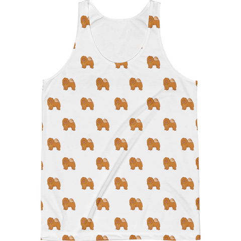 Chow Chow All-Over Tank For Men | Funny Dog Lover Top | The Jazzy Panda