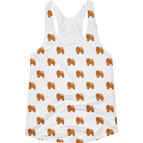 Chow Chow All-Over Tank For Women | Funny Dog Lover Top | The Jazzy Panda