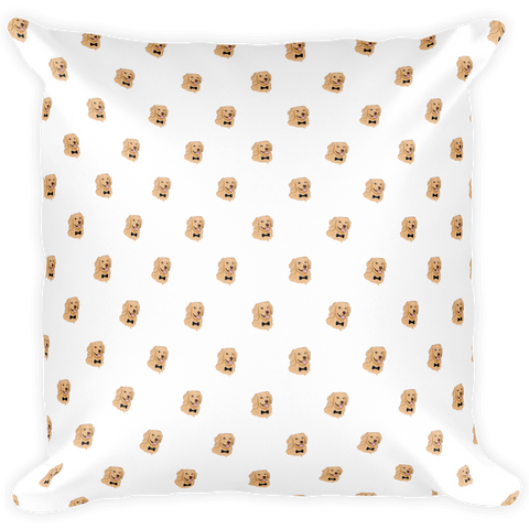 Golden Retriever All-Over Pillow | Funny Dog Cushion | The Jazzy Panda