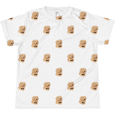 Golden Retriever All-Over T Shirt For Boys | Funny Dog Tee | The Jazzy Panda