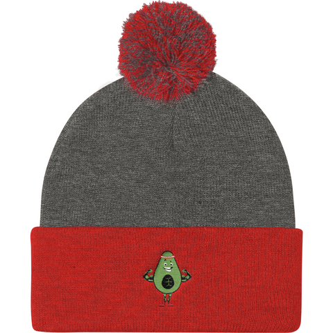 Avocado Beanie Hat For Women | Funny Vegan Gym Gift Cap | The Jazzy Panda