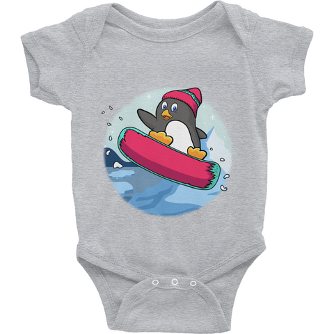 Penguin Baby Girl Onesie | Funny Zoo Animal Romper | The Jazzy Panda
