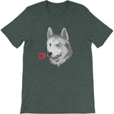 Husky T Shirt For Men | Funny Siberian Dog Tee | The Jazzy Pan