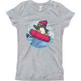 Penguin T Shirt For Girls | Funny Zoo Animal Tee | The Jazzy P