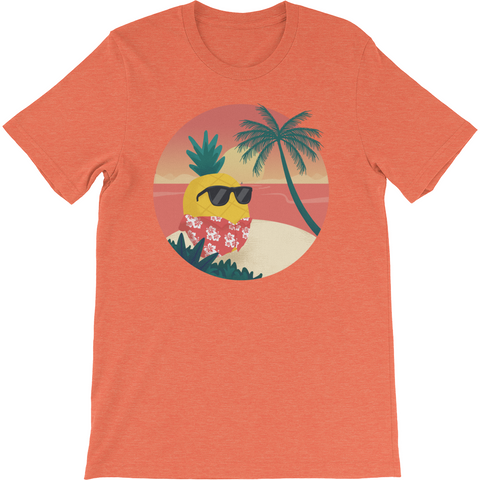 Pineapple T Shirt For Men | Tropical Hawaiian Tee | The Jazzy Panda