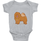 Chow Chow Baby Girl Onesie | Funny Dog Lover Romper | The Jazzy Panda