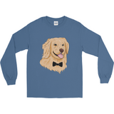 Golden Retriever Long Sleeve T Shirt For Men | Funny Dog Tee | The Jazzy Panda