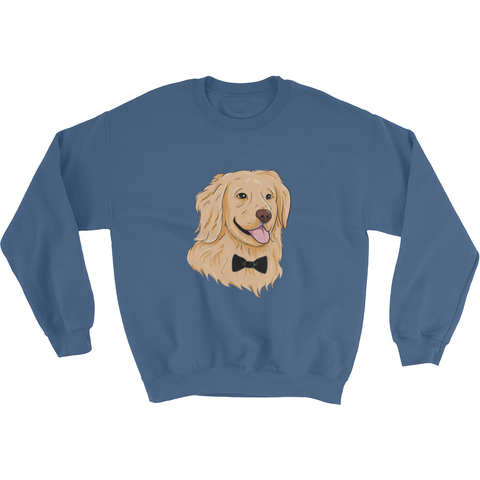 Golden Retriever Crewneck For Men | Funny Dog Sweatshirt | The Jazzy Panda