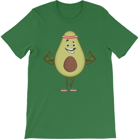 Avocado T Shirt For Men | Funny Vegan Gym Gift Tee | The Jazzy Panda