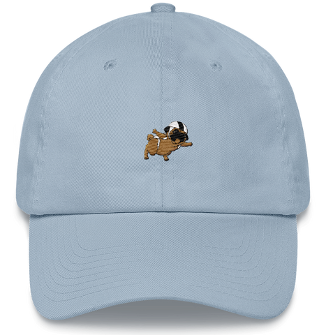 Pug Baseball Cap For Men | Funny Skydiving Dog Dad Hat | The Jazzy Panda