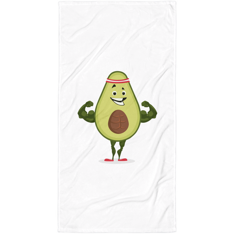 Avocado Towel | Funny Vegan Gym Gift Blanket | The Jazzy Panda