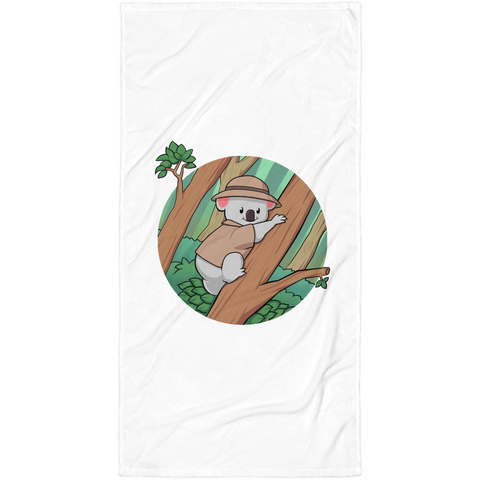 Koala Bear Towel | Funny Animal Blanket | The Jazzy Panda