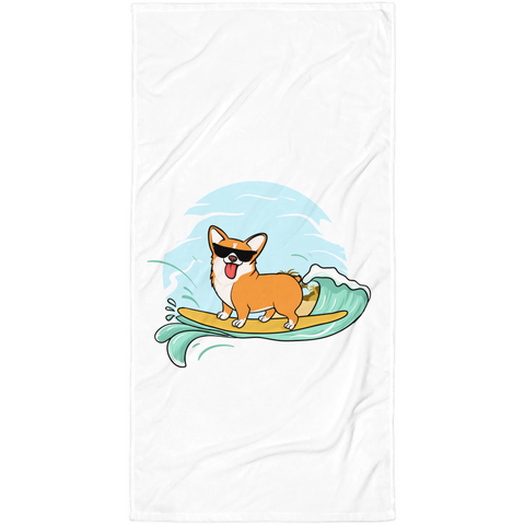 Corgi Towel | Funny Pembroke Welsh Dog Blanket | The Jazzy Panda