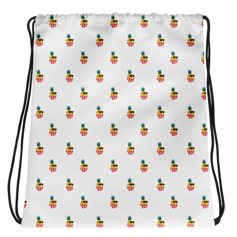 Pineapple Drawstring | Tropical Hawaiian Bag | The Jazzy Panda