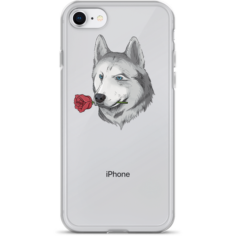 Husky iPhone 7 8 Case | Funny Siberian Dog Cover | The Jazzy Panda