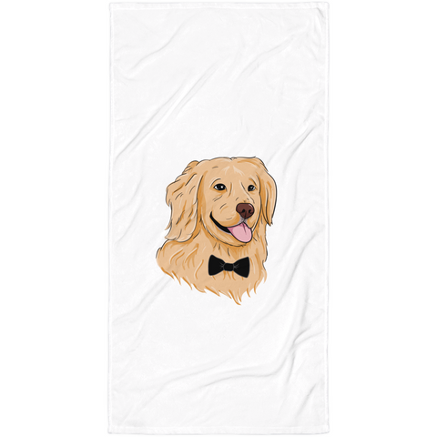 Golden Retriever Towel | Funny Dog Blanket | The Jazzy Panda