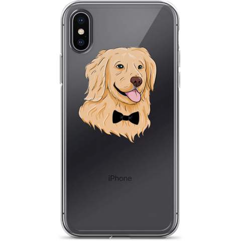 Golden Retriever iPhone X Case | Funny Dog Cover | The Jazzy Panda