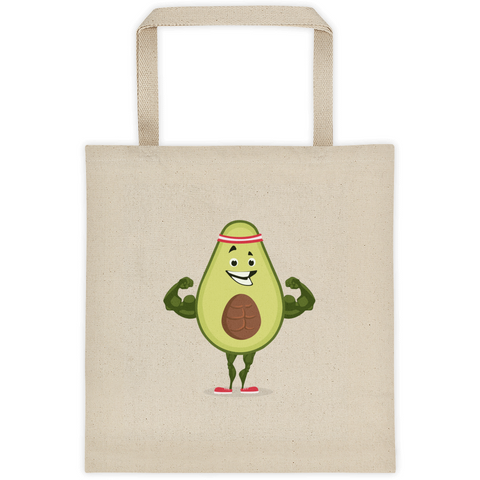 Avocado Tote | Funny Vegan Gym Gift Bag | The Jazzy Panda