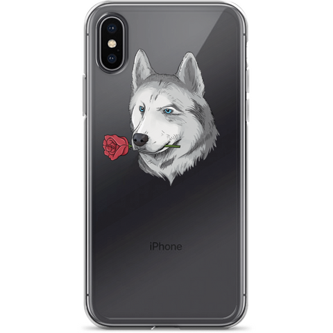 Husky iPhone X Case | Funny Siberian Dog Cover | The Jazzy Panda