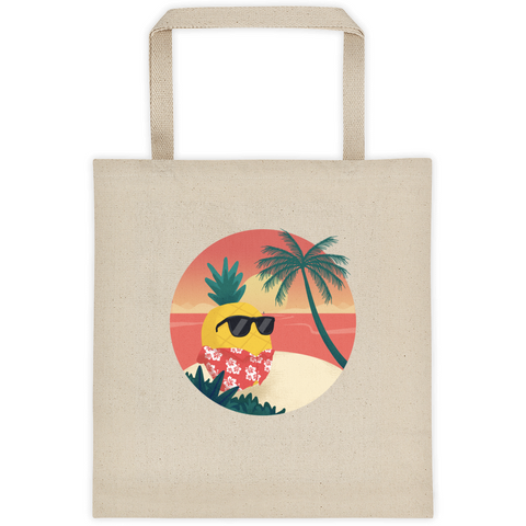 Pineapple Tote | Tropical Hawaiian Bag | The Jazzy Panda
