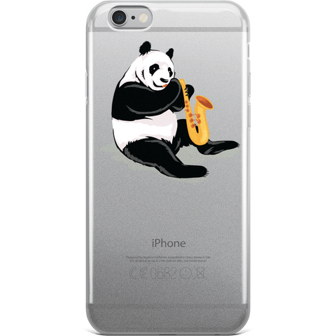 Panda iPhone 6 6s Plus Case | Funny Bear Lover Gift Cover | The Jazzy Panda