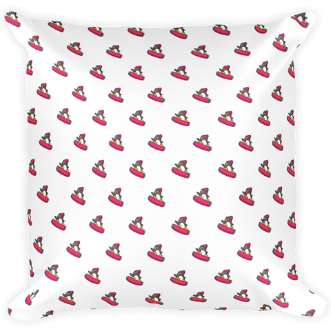 Penguin All-Over Pillow | Funny Zoo Animal Cushion | The Jazzy Panda