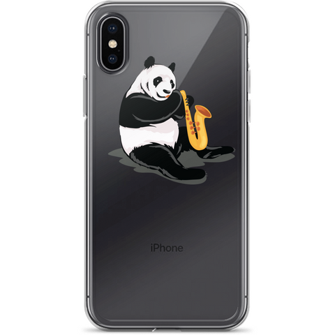 Panda iPhone X Case | Funny Bear Lover Gift Cover | The Jazzy Panda