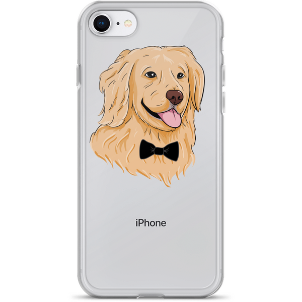 Golden Retriever iPhone 7 8 Case | Funny Dog Cover | The Jazzy Panda