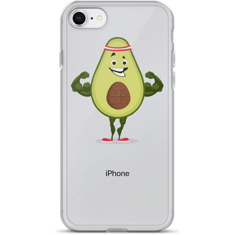Avocado iPhone 7 8 Case | Funny Vegan Gym Gift Cover | The Jazzy Panda