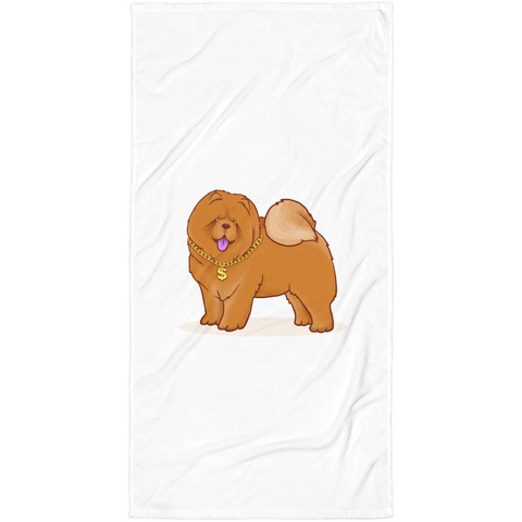 Chow Chow Towel | Funny Dog Lover Blanket | The Jazzy Panda
