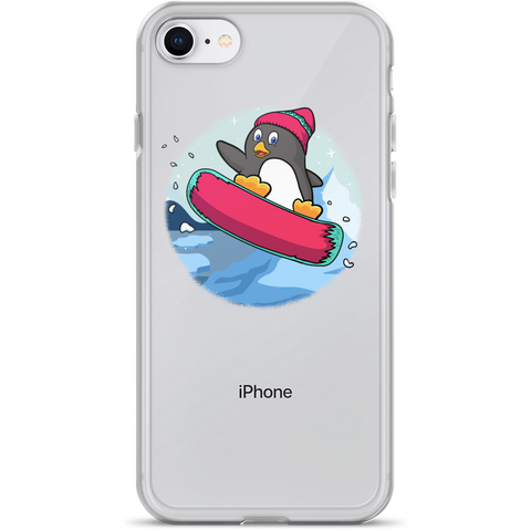 Penguin iPhone 7 8 Case | Funny Zoo Animal Cover | The Jazzy Panda