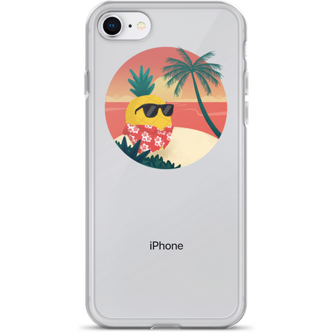 Pineapple iPhone 7 8 Case | Tropical Hawaiian Cover | The Jazzy Panda