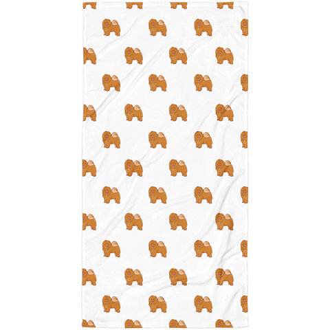 Chow Chow All-Over Towel | Funny Dog Lover Blanket | The Jazzy Panda