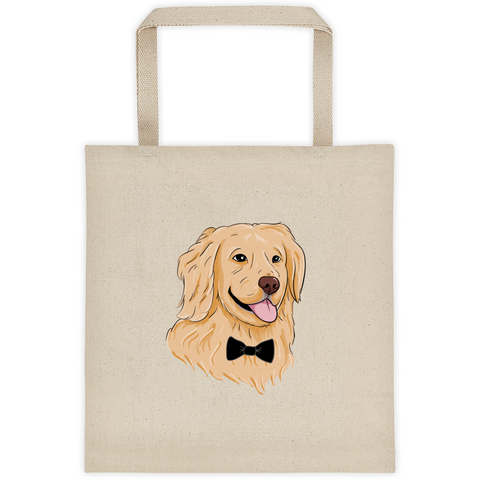 Golden Retriever Tote | Funny Dog Bag | The Jazzy Panda