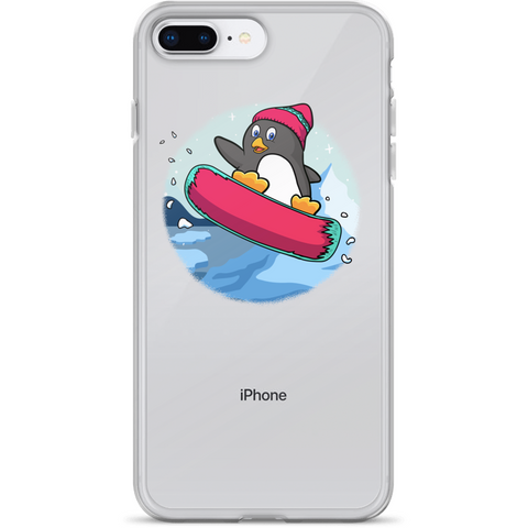 Penguin iPhone 7 8 Plus Case | Funny Zoo Animal Cover | The Jazzy Panda