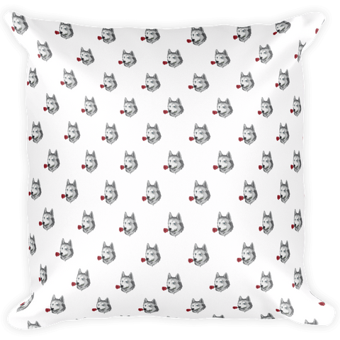 Husky All-Over Pillow | Funny Siberian Dog Cushion | The Jazzy Panda