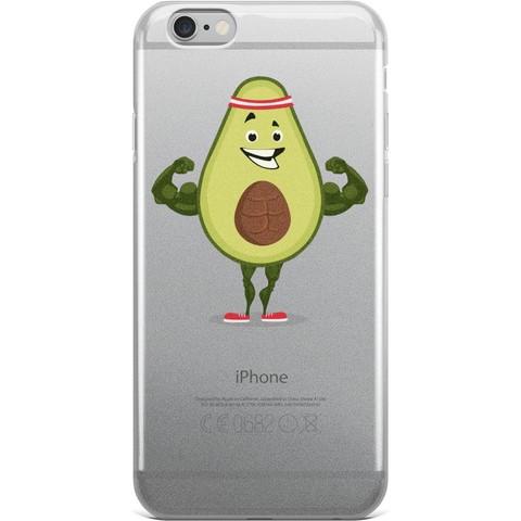 Avocado iPhone 6 6s Plus Case | Funny Vegan Gym Gift Cover | The Jazzy Panda