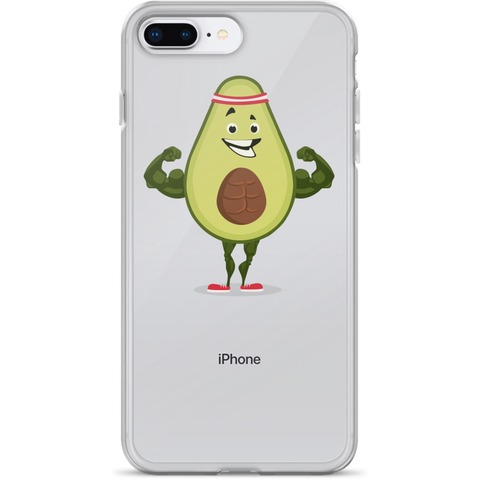 Avocado iPhone 7 8 Plus Case | Funny Vegan Gym Gift Cover | The Jazzy Panda