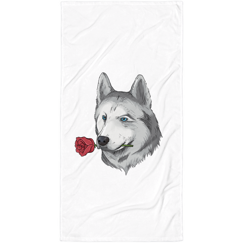 Husky Towel | Funny Siberian Dog Blanket | The Jazzy Panda