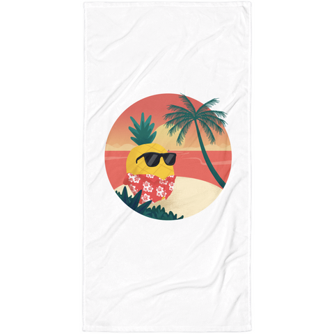 Pineapple Towel | Tropical Hawaiian Blanket | The Jazzy Panda