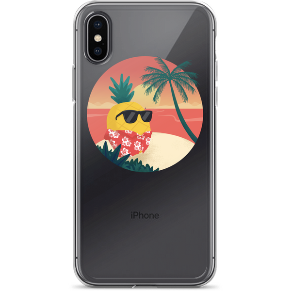 Pineapple iPhone X Case | Tropical Hawaiian Cover | The Jazzy Panda
