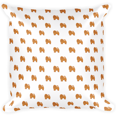 Chow Chow All-Over Pillow | Funny Dog Lover Cushion | The Jazzy Panda