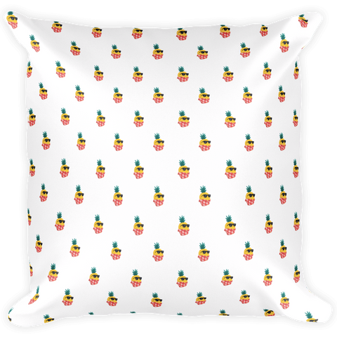 Pineapple All-Over Pillow | Tropical Hawaiian Cushion | The Jazzy Panda