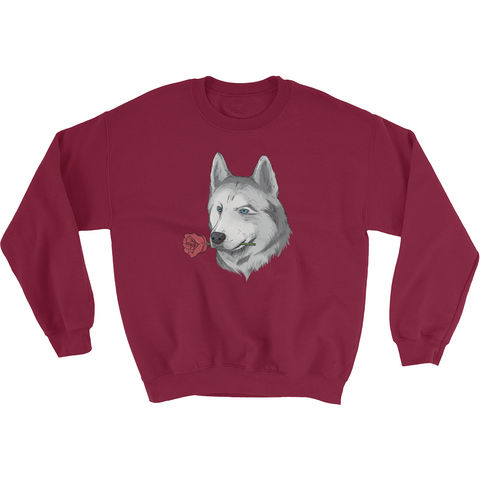Husky Crewneck For Men | Funny Siberian Dog Sweatshirt | The Jazzy Panda