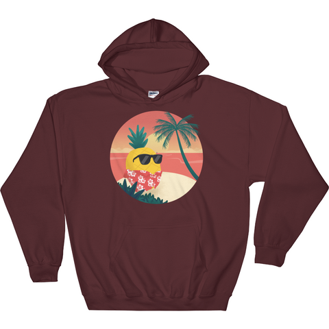 Pineapple Hoodie For Men | Tropical Hawaiian Sweatshirt | The Jazzy Panda