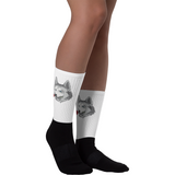 Husky Socks For Women | Funny Siberian Dog Sock | The Jazzy Panda